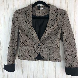 H & M polka dot sparkle blazer
